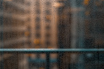 Midmorning Coffee With Rain on 3rd Street